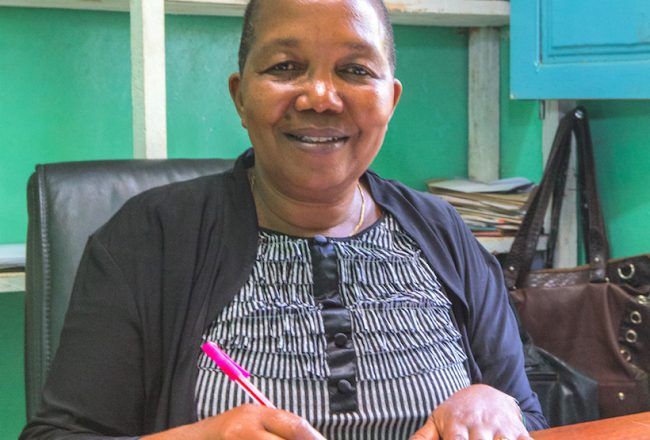 At the Mamsera green coffee cooperative, in northern Tanzania, Mary Shayo is the influential secretary.