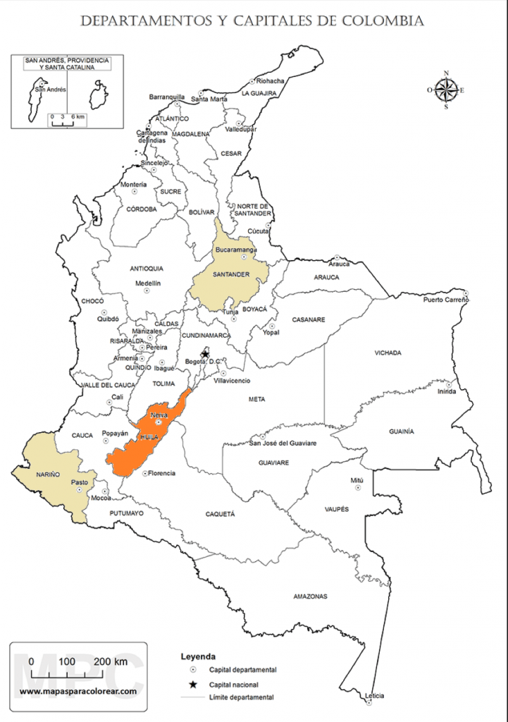 Departments of Colombia.