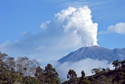 Volcanic activity in Costa Rica